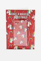 Topshop Magical Christmas Card iPhone Case