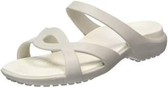 Crocs Women's Meleen Twist Sandals, (Pearl White/Oyster)