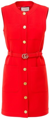 Gucci GG Belted Mini Dress