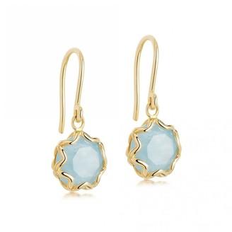 Astley Clarke Paloma Milky Aquamarine Drop Earrings