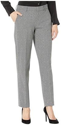 Liverpool Kelsey Knit Trousers in Printed Herringbone Knit (Grey/Black) Women's Casual Pants