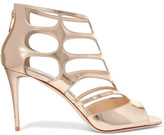 Jimmy Choo Ren Cutout Mirrored-leather Sandals - Gold