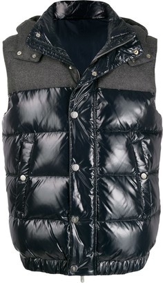 Eleventy Quilted Hooded Gilet