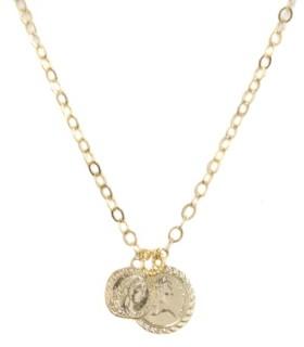 Ettika The Adventurer Double Gold Coin Necklace