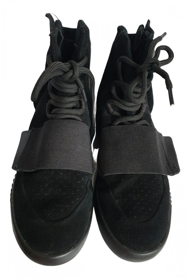 Yeezy X Adidas Boost 750 Black Leather Trainers