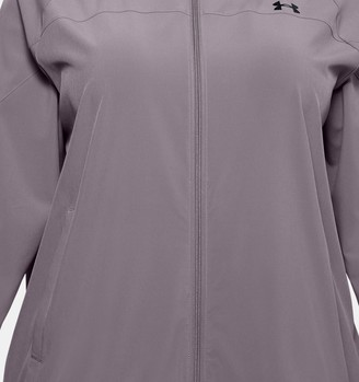 Under Armour Women's UA Woven Branded Full Zip Hoodie