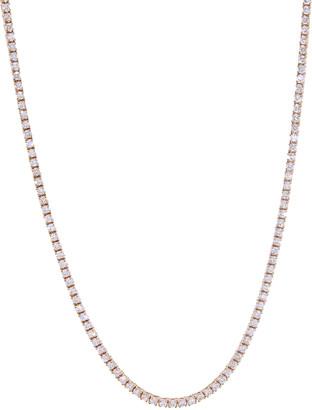 Jacquie Aiche Diamond Twiggy Tennis Necklace - Rose Gold