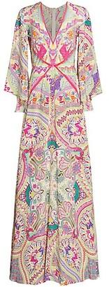 Etro Idra Paisley Silk Maxi Dress