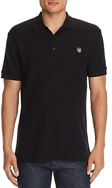Rag & Bone Embroidered Dagger Regular Fit Pique Polo Shirt