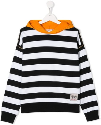 No21 Kids Stripe Print Jumper