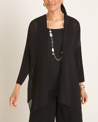 Chico's Marla Wynne for Chiffon Cardigan