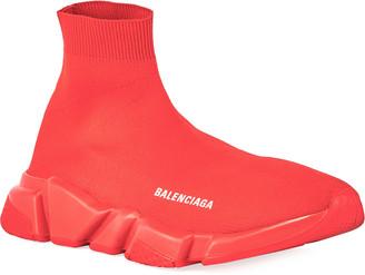 Balenciaga Men's Speed Sneakers with Tonal Sole