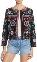 Parker Halston Embroidered Jacket - 100% Exclusive
