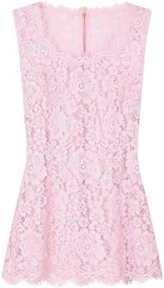Dolce & Gabbana Lace Vest Top