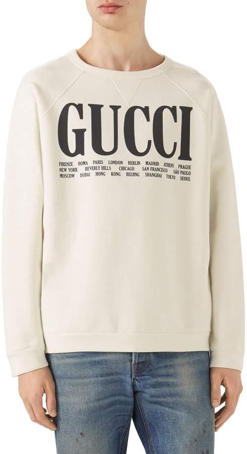 Gucci Flagship City Graphic Sweatshirt