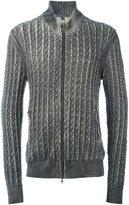 John Varvatos foil-laminated finish sweater