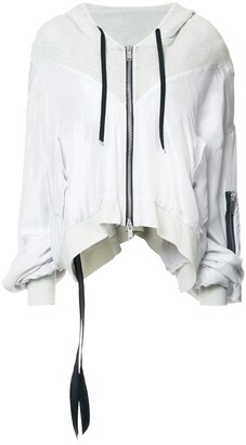 Unravel Project zip cropped hoodie