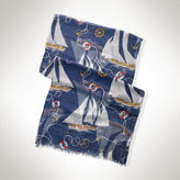 Ralph Lauren Gauzy Nautical Scarf