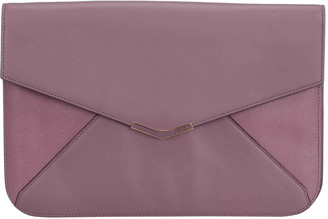 Fendi Pink Leather 2Jours Envelope Clutch Bag