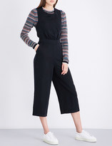 MiH Jeans T2 cropped linen-blend jumpsuit