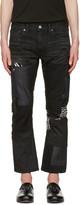 Junya Watanabe Black Multi Fabric Patch Jeans