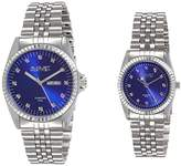 August Steiner AS8201SSBU Watch with Blue Dial and Silver/Silver Tone Bracelet