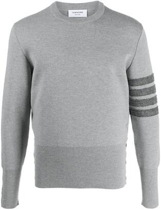 Thom Browne 4-Bar crew-neck jumper