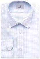 Dunhill Blue Slim-fit Cutaway-collar Checked Cotton Shirt - Light blue