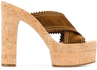 Casadei Open Toe 145mm Slip-On Sandals