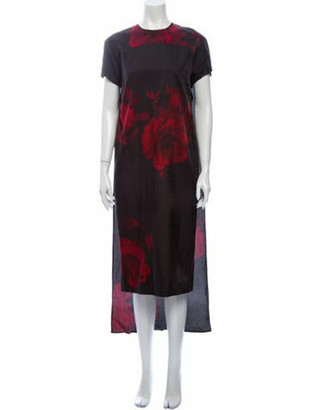 No. 21 X Kartell Floral Print Midi Length Dress w/ Tags Black