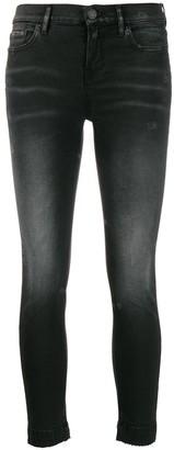 Pinko Denim Cropped Skinny Jeans