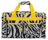 "Rockland 19"" Duffel Bag - Lime Zebra"