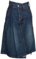 Junya Watanabe Comme Des Garçons Draped A-line Denim Skirt