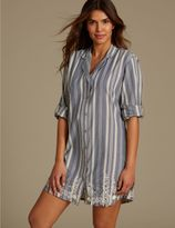 Marks and Spencer Pure Cotton Embroidered Nightshirt