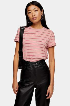 Selected Womens **Rose Pink Stripe T-Shirt By Rose