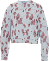 Luisa Beccaria Floral Embroidered Sweatshirt