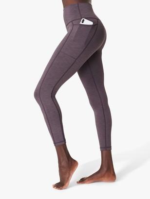 Sweaty Betty Super Sculpt High Waisted 7/8 Yoga Leggings, Fig Purple