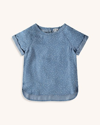 Splendid Chambray Dot Top