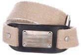 Dolce & Gabbana Canvas Logo Belt