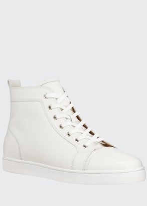 Christian Louboutin Men's Louis Leather High-Top Sneakers