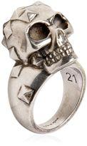 Alexander McQueen Studded Skull Ring