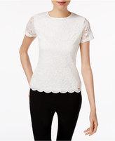 Calvin Klein Lace Illusion-Sleeve Top