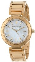 Kenneth Jay Lane Women's 2006 Mother of Pearl Gold-Tone Dress Watch