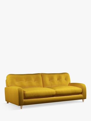 loaf Squishmuffin Large 3 Seater Sofa by at John Lewis, Clever Velvet Bumblebee