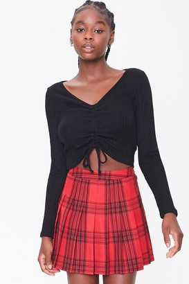 Forever 21 Pleated Plaid Mini Skirt