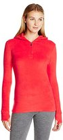 Cuddl Duds Women's Fleecewear with Stretch Half-Zip Hoodie