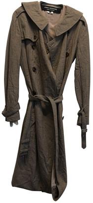 Junya Watanabe Khaki Wool Trench Coat for Women