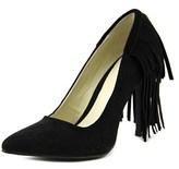 Mia Madalyn Women Pointed Toe Suede Black Heels.
