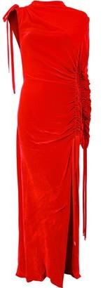 Monse Ruched Velvet Gown