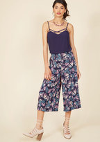 ModCloth Eye-Catching Mastery Pants in Navy Butterfly in S